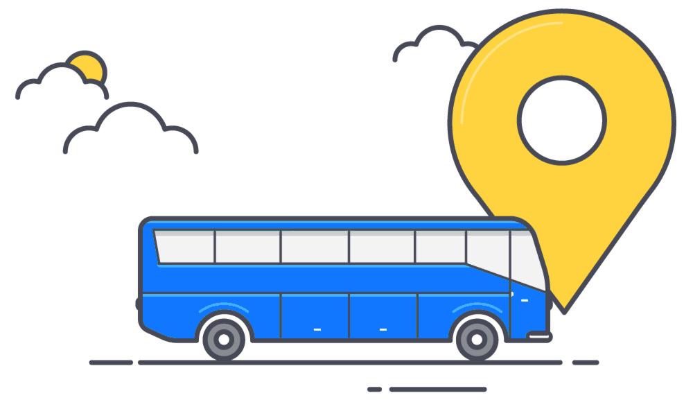 Icon of coach bus