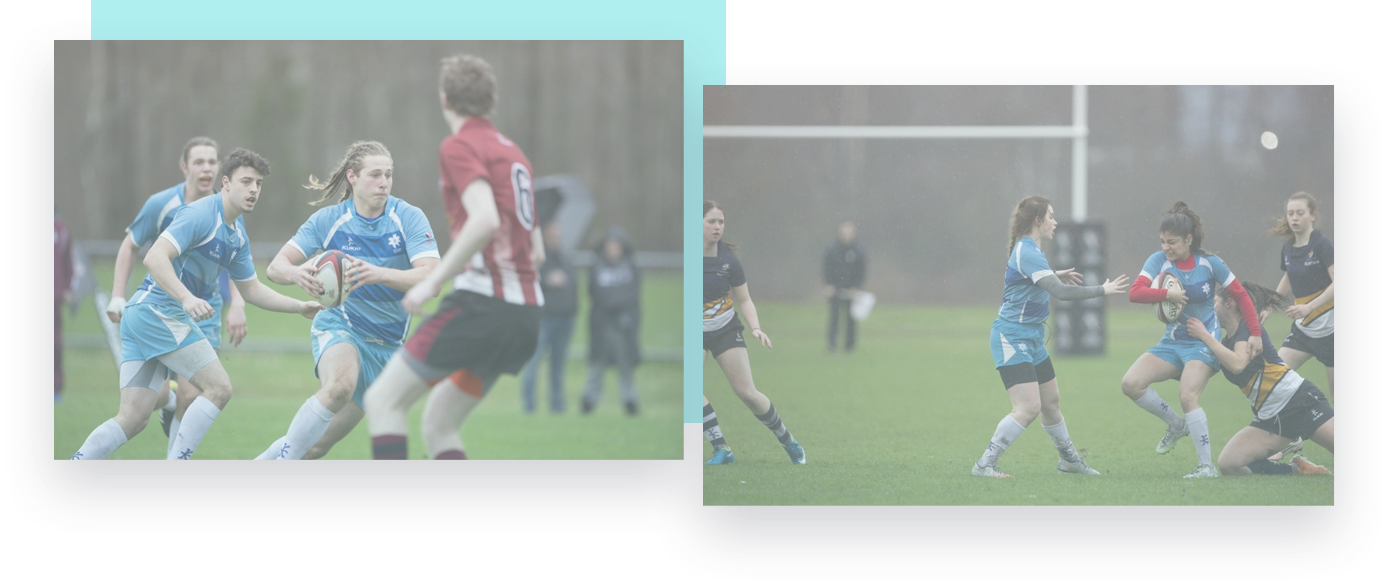rugby players competing at University Sevens Rugby Championships